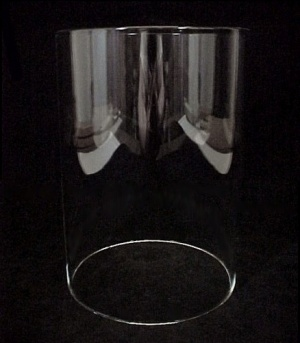 Cylinder 4 5/16 X 6 5/16 in Tube Light Shade Clear Glass Candle Holder (Image1)
