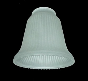Ribbed Frosted Glass Bell 2 1/4 Light Shade Wall Sconce Ceiling Fan (Image1)