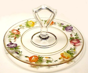 Tiffin Reverse Painted Sandwich Server Dessert Stand (Image1)