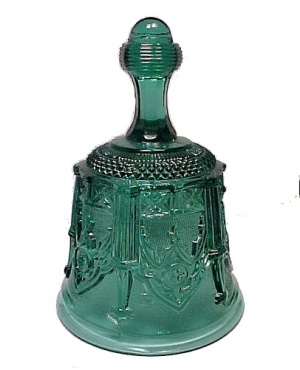 Fenton Art Glass Bell Sables Arch Teal Royale Signed (Image1)