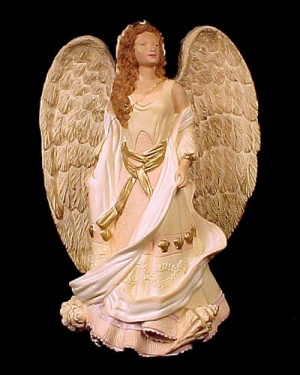 Roman Seraphim Angel Sea Goddess Shells 7.5 in Figurine (Image1)