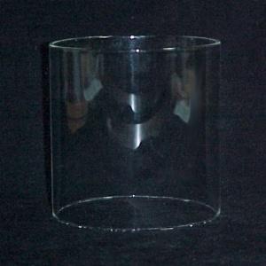 Cylinder 6 3/4 X 7 Tube Light Shade Glass Lamp Candle Holder Pendant W (Image1)