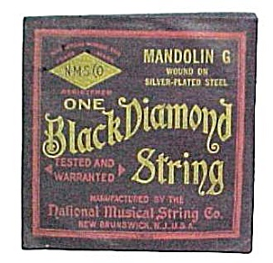 Black Diamond String Mandolin G Silver-plated Steel