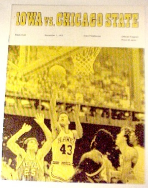 1972 Iowa Hawkeyes Vs Chicago State Basketball Program Ia Illinois Il