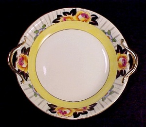 Early Noritake M Art Deco Handled Bowl Yellow Roses (Image1)