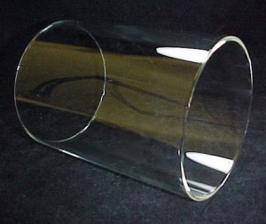Cylinder 7 7/16 in X 10 1/2 in Tube Light Lamp Shade Clear Glass New (Image1)
