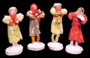 Vintage Composition Chenille Felt MICA Christmas Figure (Image1)