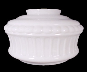 Antique Art Deco Milk Glass 6 X 14 in Pendant Light Shade (Image1)