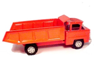 Marx Lumar Orange Dump Truck Vintage 1960s (Image1)