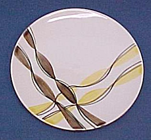 2 Blue Ridge Pottery Festive Skyline Salad Plates Pair (Image1)