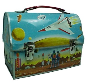Astronaut Dome Lunch Box Thermos Vintage Metal Lunchbox (Image1)