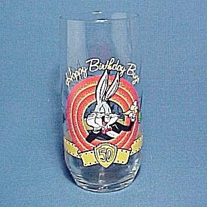 1990 Happy 50th Birthday Bugs Bunny Warner Bros Water Tumbler (Image1)