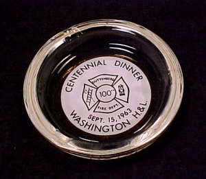Guttenberg Iowa Fire Dept 1963 Centennial Ashtray IA (Image1)