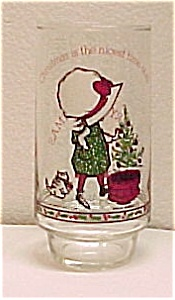 Holly Hobbie Christmas Coke Coca Cola Drinking Glass Tumbler