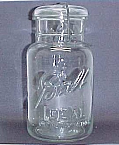 Ball Ideal Clear Quart Canning Jar Glass Lid Bail 1923 (Image1)