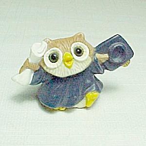 1985 Owl Graduate Graduation Merry Miniature Figure (Image1)