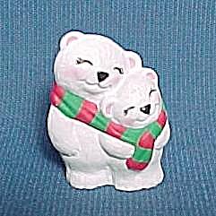 1994 Hallmark Merry Miniature Christmas Polar Bears (Image1)