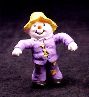 1990 Hallmark Scarecrow Halloween Merry Miniature Figurine (Image1)