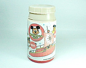 1977 Mickey Mouse Club Thermos Bottle Aladdin Walt Disney Lunch
