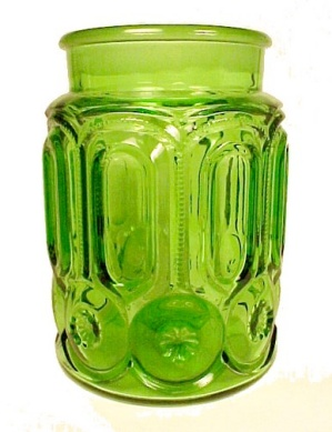 LE L E Smith Green Moon & Stars Sugar Canister Jar (Image1)