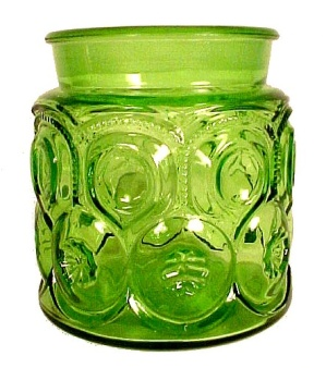 LE L E Smith Green Moon & Stars Coffee Canister Jar (Image1)