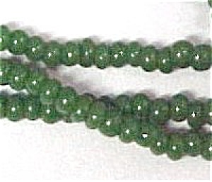 Faux Jade Glass 2mm Seed Beads 68 inch Jewelry Crafting (Image1)