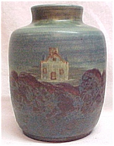 Peters Reed Vase Scenic Chromal 1915 Arts Craft Pottery