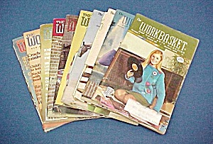 Lot of 10 Workbasket Magazines Knit Crochet 1969 - 1983 (Image1)