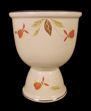 Hall China Autumn Leaf Egg Cup Jewel Tea 1997 Nalcc