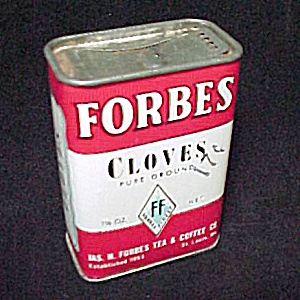 Forbes Finest Cloves Spice Advertising Tin Vintage (Image1)