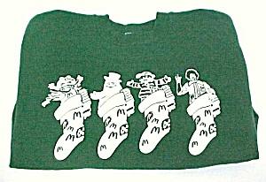 McDonald's Christmas Stocking Sweatshirt Hanes Adult L (Image1)
