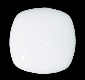 White Glass Ceiling Fan Light Globe Shade Neckless Flush Mount Lamp