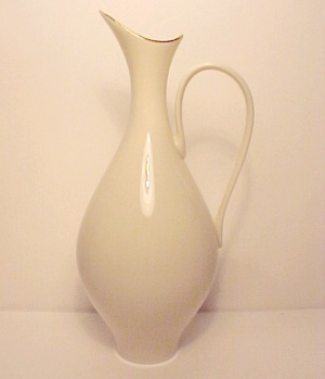 Lenox Ivory China Pitcher Vase with Gold 9 in Vintage (Image1)