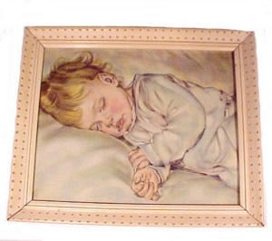 Vintage Maud Tousey Fangel Baby Art Litho Print 1900-1949 Children