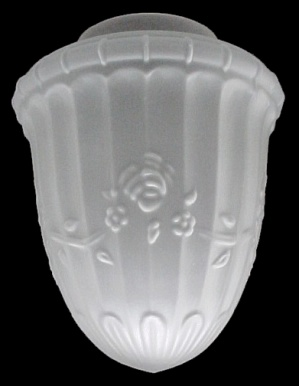 Floral Crystal Satin 4 X 8 Bullet Pendant Light Shade New (Image1)