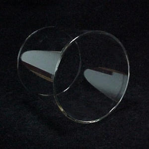Cylinder 4 15/16 X 6 in Tube Glass Light Lamp Shade Candle Holder (Image1)