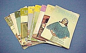 Lot of 9 Workbasket Magazines Knit Crochet 1968 - 1971 (Image1)