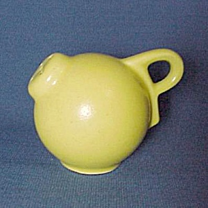 Vintage Pottery Yellow Jug Tea Kettle Pepper Shaker