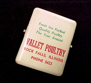Vallet Poultry Rock Falls Illinois Vintage Advertiser