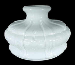 Aladdin White Glass 10in Lamp Shade for Models 7 & 8 Kerosene Oil (Image1)