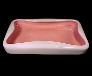 Red Wing Pink Grey Centerpiece Flower Console Bowl 134b