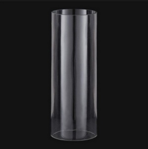 Cylinder 4 X 7 Tube AS IS Candle Holder Light Lamp Shade Glass (Image1)