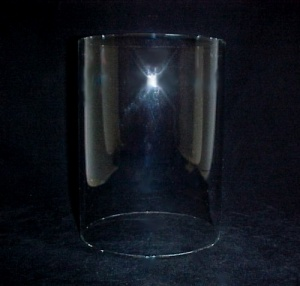 Cylinder 4 5/16 X 6 in Tube Glass Light Lamp Shade Candle Holder (Image1)