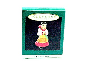 1996 Hallmark Christmas Tree Ornament Mini Feliz Navidad Joyous Angel (Image1)