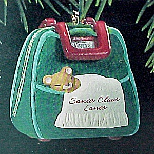 1993 Hallmark Miniature Christmas Tree Ornament Bowling for ZZZs Bag (Image1)