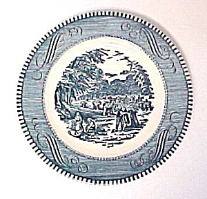 Currier & Ives Bread Butter Plate 6 3/8 in Royal China (Image1)