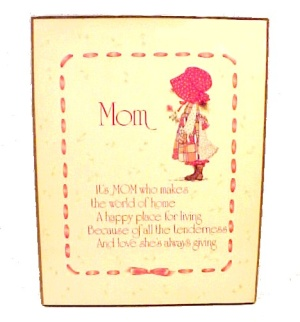 Holly Hobbie Mom Wall Plaque Picture for Mothers Day (Image1)