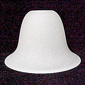 Neckless Frosted Speckled Bell Light Shade 1 X 4 X 6 Wall Sconce Fan (Image1)
