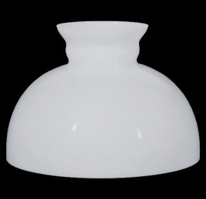 12 In White Milk Glass Kerosene Oil Lamp Shade Straight Top