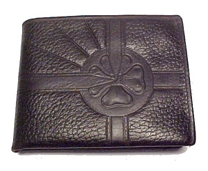 Vintage Womens Leather Billfold with Bow Ladies Purse (Image1)
